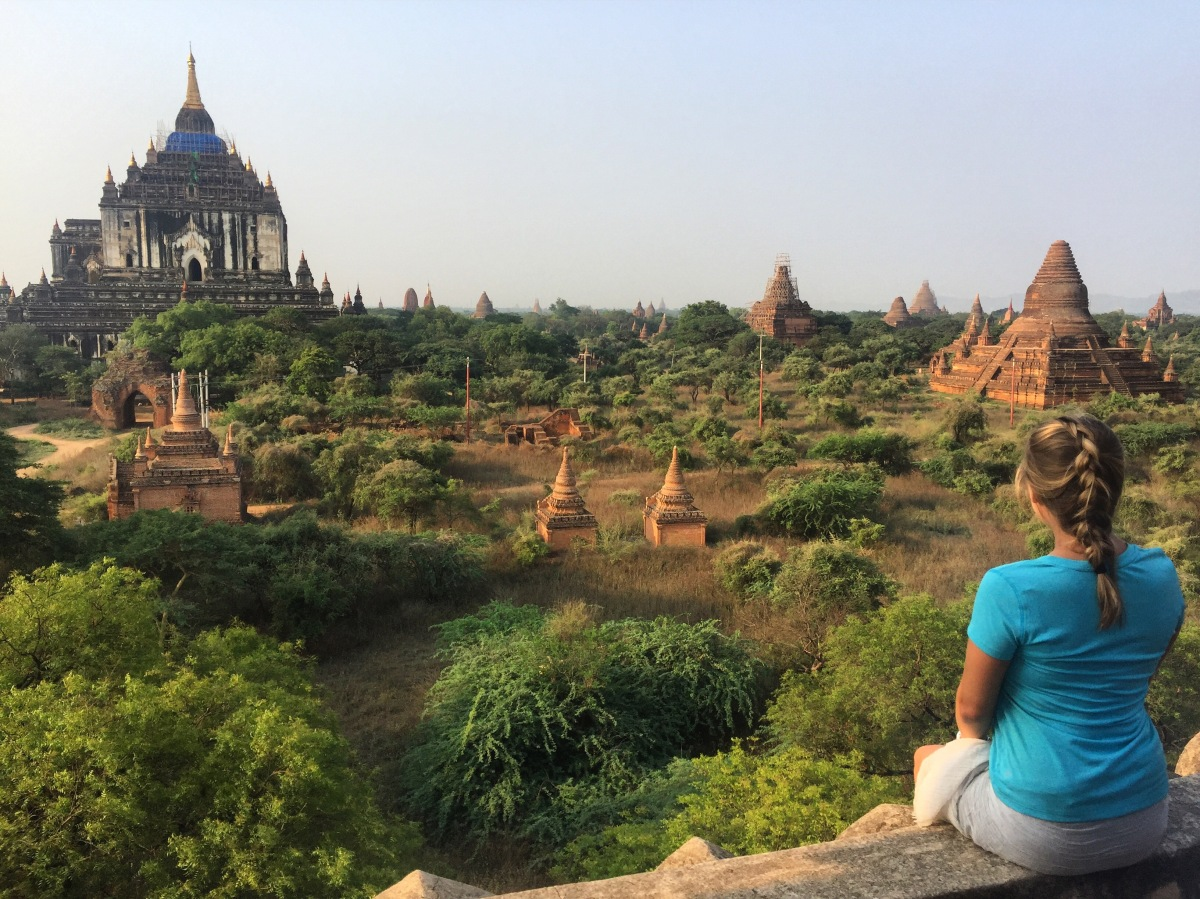 Barfing in Bagan